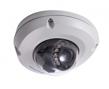 Geovision GV-EDR1100-0F 1.3MP H.264 2.8mm Low Lux WDR IR Mini Fixed Rugged IP Dome Camera (White)