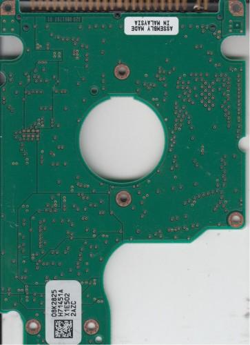 HTS548020M9AT00, 08K2825 H71451A, PN 08K0855, Hitachi 20GB IDE 2.5 PCB