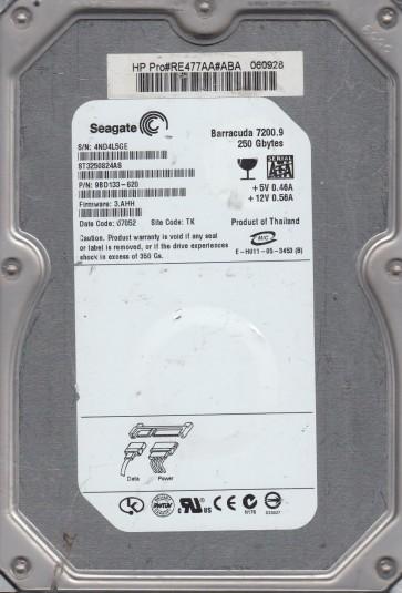 ST3250824AS, 4ND, TK, PN 9BD133-620, FW 3.AHH, Seagate 250GB SATA 3.5 Hard Drive