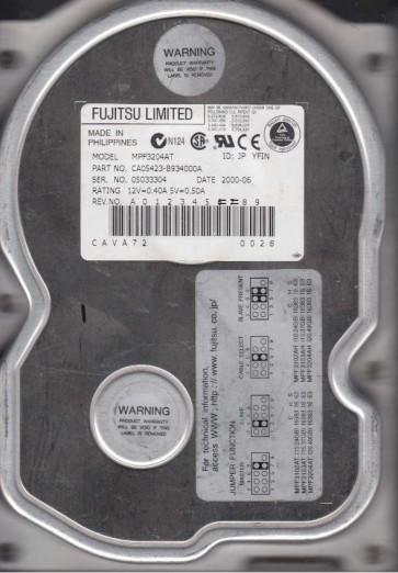 MPF3204AT, PN CA05423-B934000A, Fujitsu 20GB IDE 3.5 Hard Drive