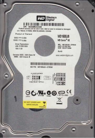 WD1600JB-57REA0, DCM HSCHYTJAHN, Western Digital 160GB IDE 3.5 Hard Drive