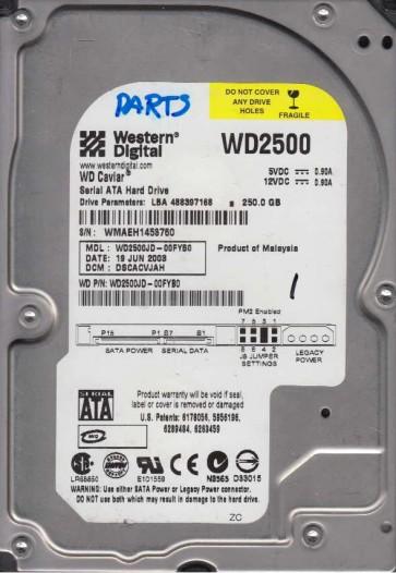 WD2500JD-00FYB0, DCM DSCACVJAH, Western Digital 250GB SATA 3.5 Hard Drive