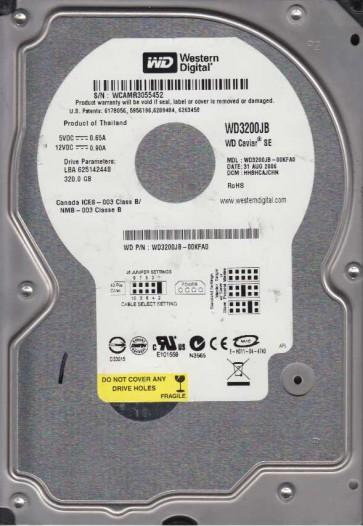 WD3200JB-00KFA0, DCM HHBHCAJCHN, Western Digital 320GB IDE 3.5 Hard Drive