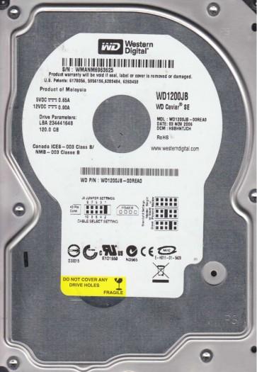 WD1200JB-00REA0, DCM HSBHNTJCH, Western Digital 120GB IDE 3.5 Hard Drive
