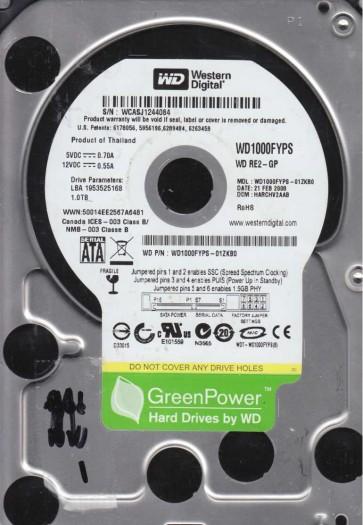 WD1000FYPS-01ZKB0, DCM HARCHV2AAB, Western Digital 1TB SATA 3.5 Hard Drive