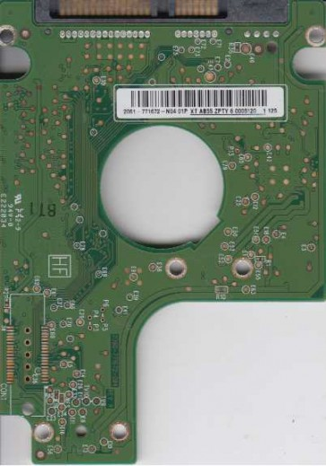 WD2500BEVT-22A23T0, 2061-771672-N04 01P, WD SATA 2.5 PCB