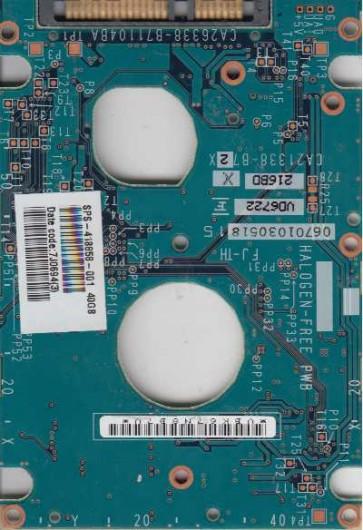 MHV2040BH, PN CA06672-B24000C1, Fujitsu 40GB SATA 2.5 PCB