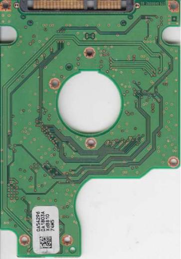 HTS542516K9SA00, 0A54296 DA1803A, PN 0A52124, Hitachi 160GB SATA 2.5 PCB