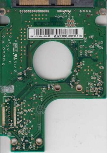 WD600BEVS-60LAT0, 2061-701424-N00 AF, 007 REV A, WD SATA 2.5 PCB