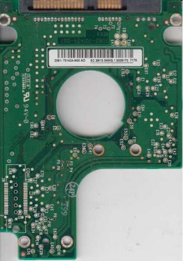 WD1200BEVS-60LAT0, 2061-701424-N00 AD, WD SATA 2.5 PCB