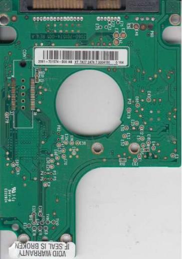 WD3200BEKT-60F3T1, 2061-701574-D00 AB, WD SATA 2.5 PCB