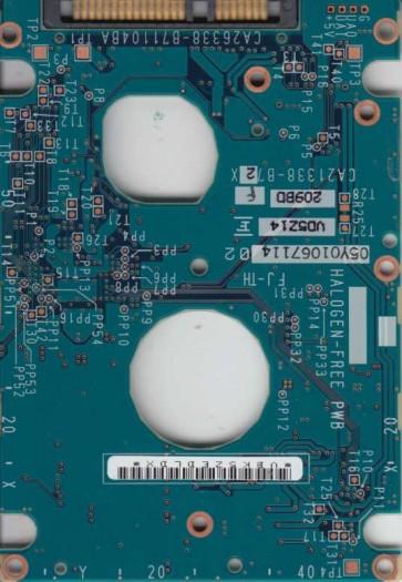 MHV2080BH, PN CA06672-B264000T, Fujitsu 80GB SATA 2.5 PCB