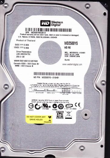 WD2500YS-01SHB1, DCM DSBHNTJAHN, Western Digital 250GB SATA 3.5 Hard Drive