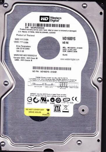 WD1600YS-01SHB1, DCM DBBHCTJAHN, Western Digital 160GB SATA 3.5 Hard Drive