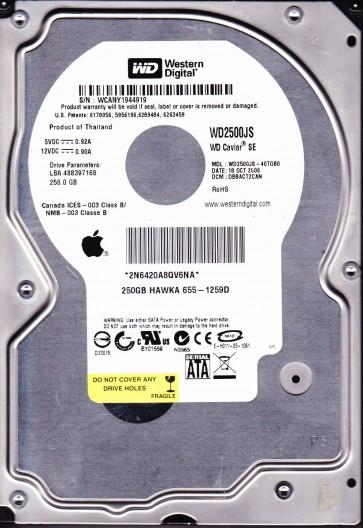 WD2500JS-40TGB0, DCM DBBACT2CAN, Western Digital 250GB SATA 3.5 Hard Drive