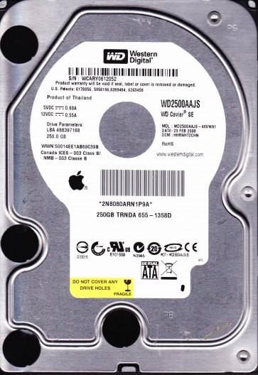 WD2500AAJS-40VWA1, DCM HHRNHT2CHN, Western Digital 250GB SATA 3.5 Hard Drive