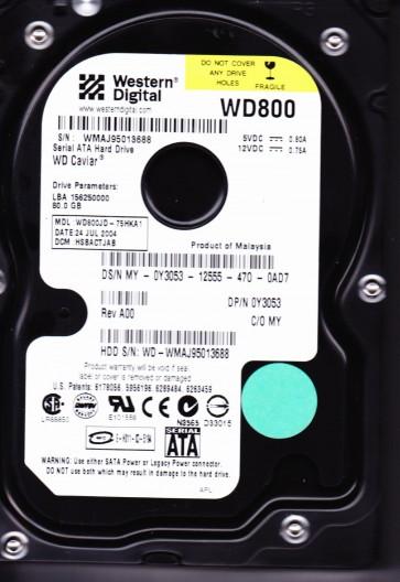 WD800JD-75HKA1, DCM HSBACTJAB, Western Digital 80GB SATA 3.5 Hard Drive