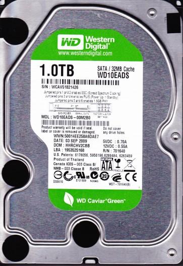 WD10EADS-00M2B0, DCM HHRCHV2CBB, Western Digital 1TB SATA 3.5 Hard Drive