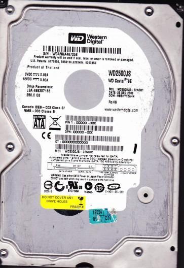 WD2500JS-22NCB1, DCM HBBHYT2AHN, Western Digital 250GB SATA 3.5 Hard Drive