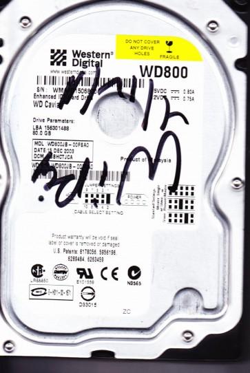 WD800JB-00FSA0, DCM HSBHCTJCA, Western Digital 80GB IDE 3.5 Hard Drive