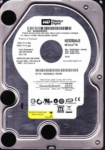 WD3200AAJS-00VWA0, DCM HANNHTJCHN, Western Digital 320GB SATA 3.5 Hard Drive