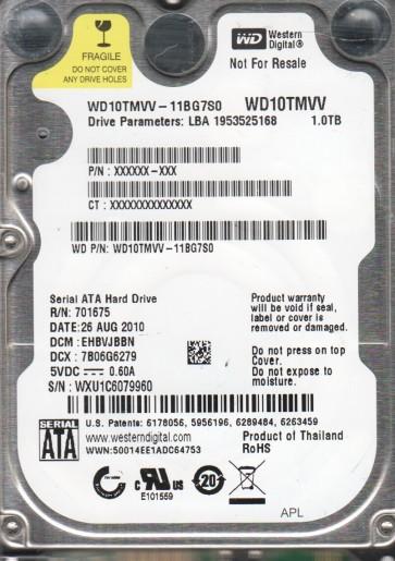 WD10TMVV-11BG7S0, DCM EHBVJBBN, Western Digital 1TB USB 2.5 Hard Drive