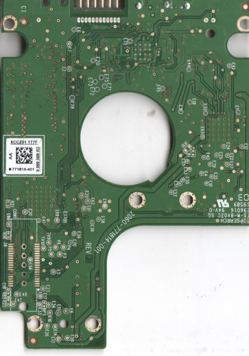 WD10TMVW-11ZSMS5, 771814-401 AA, WD USB 2.5 PCB