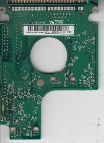 WD400VE-00HDT0, 2061-701285-100 AG, WD IDE 2.5 PCB