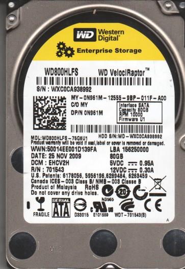 WD800HLFS-75G6U1, DCM EHCV2H, Western Digital 80GB SATA 2.5 Hard Drive