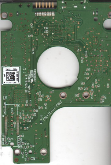 WD10TMVW-11ZSMS0, 771737-200 03P, WD USB 2.5 PCB