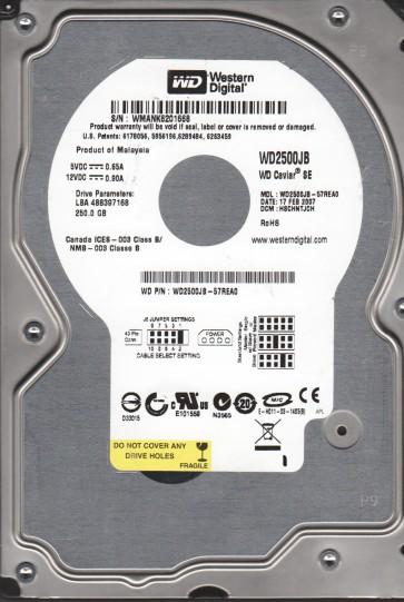 WD2500JB-57REA0, DCM HSCHNTJCH, Western Digital 250GB IDE 3.5 Hard Drive