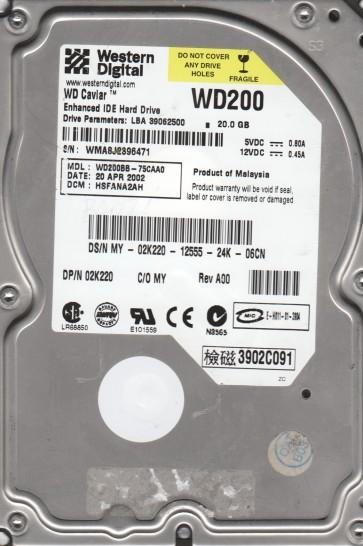 WD200BB-75CAA0, DCM HSFANA2AH, Western Digital 20GB IDE 3.5 Hard Drive