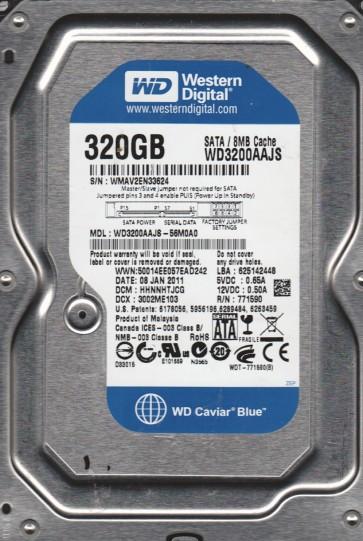 WD3200AAJS-56M0A0, DCM HHNNHTJCG, Western Digital 320GB SATA 3.5 Hard Drive