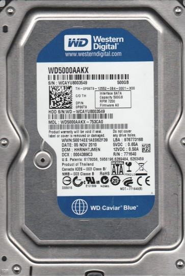 WD5000AAKX-753CA0, DCM HHRNHTJMEN, Western Digital 500GB SATA 3.5 Hard Drive