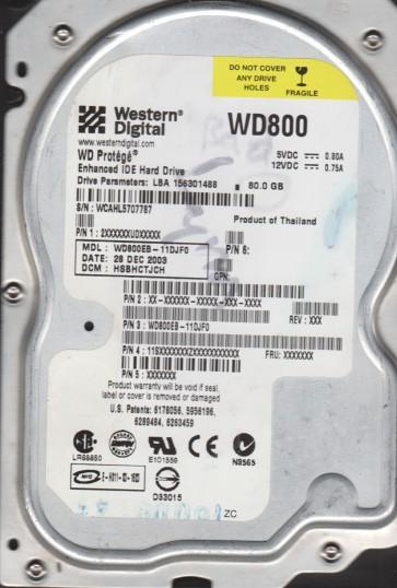 WD800EB-11DJF0, DCM HSBHCTJCH, Western Digital 80GB IDE 3.5 Hard Drive