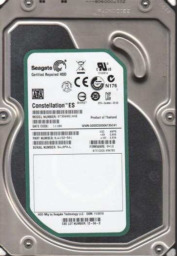 ST3500514NS, 9WJ, KRATSG, PN 9JW152-501, FW SN12, Seagate 500GB SATA 3.5 Hard Drive
