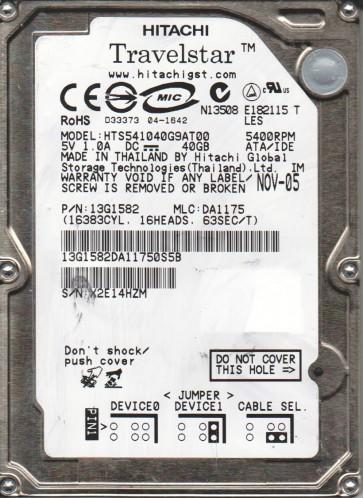 DBCA-206480, PN 21L9520, MLC F41941, IBM 6.5GB IDE 2.5 Hard Drive