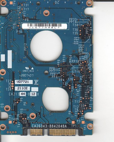 MHW2120BH, PN CA06820-B44700SN, Fujitsu 120GB SATA 2.5 PCB