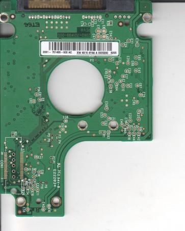 WD2500BEVS-22UST0, 2061-701499-600 AC, WD SATA 2.5 PCB