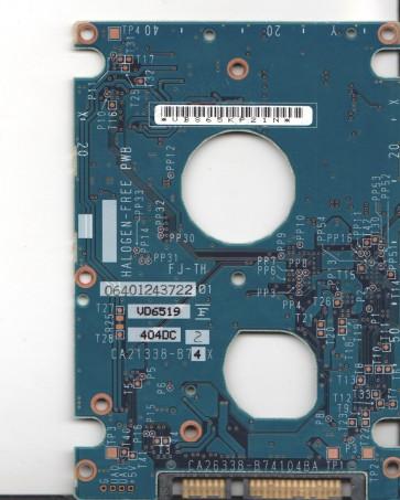 MHV2060BH PL, PN CA06672-B271000T, Fujitsu 60GB SATA 2.5 PCB