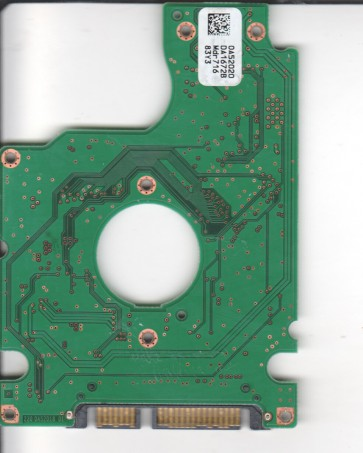 HTS541616J9SA00, 0A52020 DA1672B, PN 0A53320, Hitachi 160GB SATA 2.5 PCB