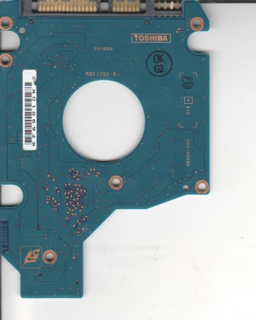 MK6034GSX, HDD2D35 Q ZK01 T, G5B001590000-A, Toshiba 60GB SATA 2.5 PCB