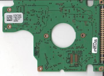 IC25N030ATDA04-0, 07N7585 L80183D, Hitachi 30GB IDE 2.5 PCB