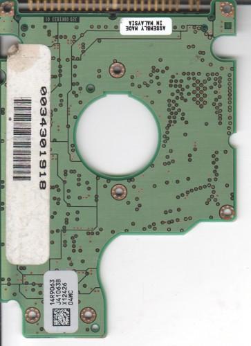 ICS25N030ATMR04-0, 14R9063 J41063B, Hitachi 30GB IDE 2.5 PCB