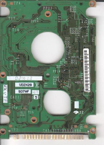 MHS2060AT, PN CA06272-B70600AP, Fujitsu 60GB IDE 2.5 PCB
