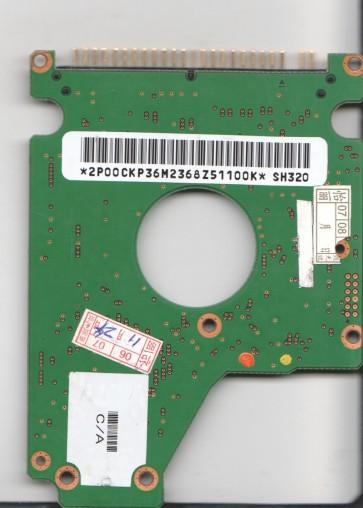 DK23EA-40, A/A0B6C/A, SH320, Hitachi 40GB IDE 2.5 PCB