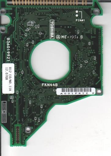 MK1214GAP, HDD2149 C ZE01 T, B36019922019-A, Toshiba 12GB IDE 2.5 PCB