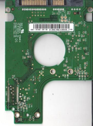 WD1600BEVS-60RST0, 2061-701450-Z00 AG, WD SATA 2.5 PCB