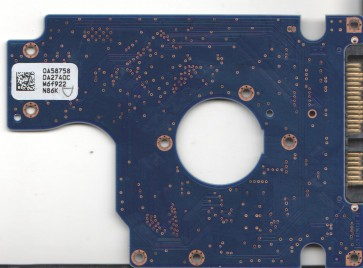 HTS545050B9SA02, 0A58758 DA2740C, PN 0A70465, Hitachi 500GB SATA 2.5 PCB