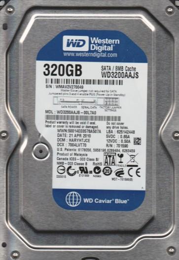 WD3200AAJS-00L7A0, DCM HARYHTJCE, Western Digital 320GB SATA 3.5 Hard Drive